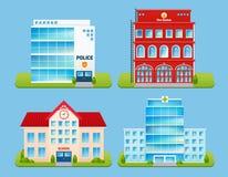 Buildings Emblems Set Stock Photo