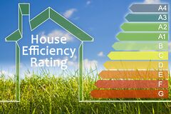 Free Buildings Energy Efficiency And Rating Concept With Energy Certification Classes According To The New European Law Called Energy Royalty Free Stock Photography - 218992477