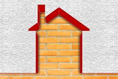 Buildings energy efficiency concept image - 3D render home thermally insulated with polystyrene walls vector illustration