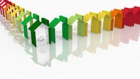 Buildings energy performance. Logo-the energy efficiency of buildings royalty free illustration