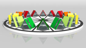 Buildings energy performance. Logo-the energy efficiency of buildings vector illustration