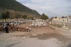 Buildings of Ephesus Royalty Free Stock Images