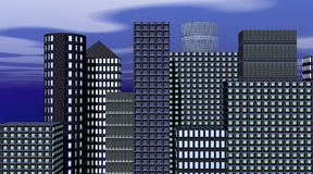 Buildings in the evening Royalty Free Stock Photos