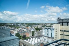Buildings, exhibits and views from Guinness Brewery Museum. Royalty Free Stock Photography