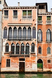 Buildings facade in Venice city Royalty Free Stock Photography