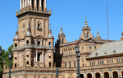 Buildings on the Famous Plaza de Espana (was the venue for the Latin American Exhibition of 1929 )  - Spanish Square in Seville Stock Photos