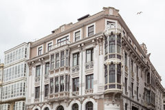 Buildings in Ferrol, Galicia, Spain Royalty Free Stock Photos