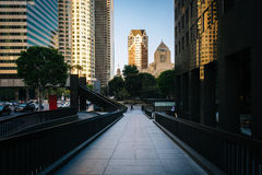 Buildings in the Financial District, in Los Angeles  Royalty Free Stock Photography