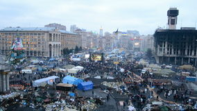 Buildings after fire, euromaidan, Kiev, Royalty Free Stock Image