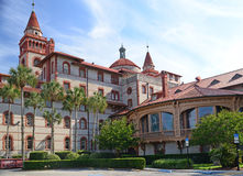 The buildings of the Flagler College Campus. Stock Photos