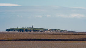 Buildings on Flat Holm Island in the Bristol Channel Stock Photo