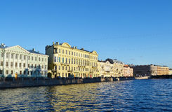 Buildings Fontanka river Royalty Free Stock Photography