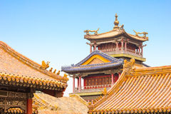 Buildings in the Forbidden City, Beijing royalty free stock photos