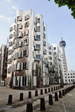 Buildings from Frank Gehry in Düsseldorf Royalty Free Stock Photography