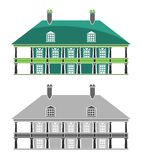 Buildings - French Colonial House Stock Photo