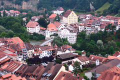 Buildings at Fribourg Royalty Free Stock Photography