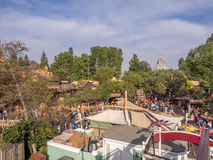 Buildings in Frontierland at Disneyland Park Royalty Free Stock Photos