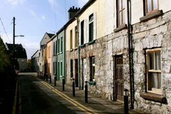 Buildings in Galway, Ireland. Old brick and stone buildings on a narrow street in Galway city, Ireland Stock Photos