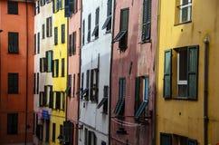 Buildings in genova. Colorful buildings in genova, italy Royalty Free Stock Photography