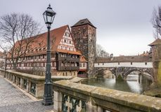 Buildings in the german town of nuremberg Stock Image
