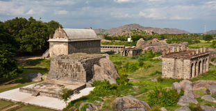 Buildings at Gingee Fort. Elephant stables, armory, and gym at Gingee Fort in Tamil Nadu, India Stock Photography