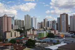 Buildings in Goiania. A street in Goiania, Brazil Royalty Free Stock Images