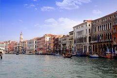 Buildings in the Grand Canal Royalty Free Stock Photography
