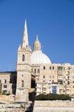 Buildings grand harbor valletta malta. View historic buildings grand harbor three cities senglea vittoriosa Royalty Free Stock Image