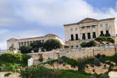 Buildings in the Grand Harbour in Valletta Malta. The Grand Harbour and fortifications in Valleta Malta Stock Photo