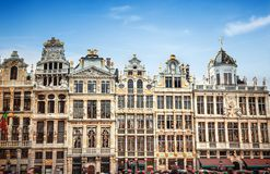 Buildings of Grand Place Grote Markt, Brussels Stock Photography