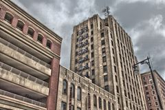 Buildings in Grand Rapids royalty free stock photography