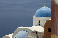 Buildings in Greek town. Buildings in the town of Oia on the Greek Island of Santorini Royalty Free Stock Photo