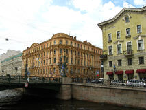 Buildings on the Griboyedov canal embankment. Saint Petersburg, Russia. Griboyedov canal embankment in Saint Petersburg. City center. Tourism in Saint Royalty Free Stock Image