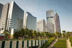 Buildings of GT Land Plaza, Pearl River Tower Royalty Free Stock Photo