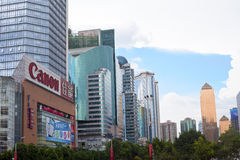Buildings of Guangzhou City Royalty Free Stock Photos