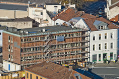 Buildings in halden, halden arbeiderblad Royalty Free Stock Photo