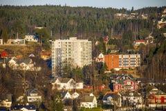 Buildings in halden, rodeløkka cooperative Royalty Free Stock Photo
