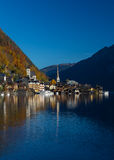 Buildings in Hallstatt during the day in the Autumn Royalty Free Stock Image
