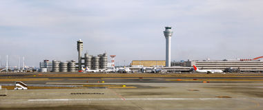 Buildings of Haneda airport in Tokyo Stock Photography