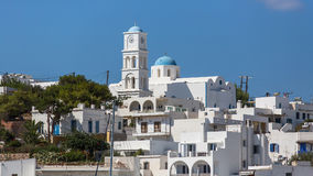 Buildings in the harbor of Milos island Stock Photography