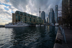 Buildings at the Harbourfront, in Toronto, Ontario. Royalty Free Stock Image