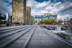 Buildings at the Harbourfront, in Toronto, Ontario. Royalty Free Stock Photography