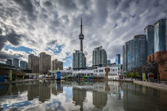 Buildings at the Harbourfront, in Toronto, Ontario. Royalty Free Stock Images
