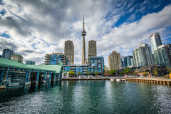 Buildings at the Harbourfront, in Toronto, Ontario. Stock Image