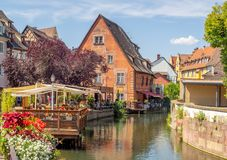 Buildings in the heart of medieval Colmar Stock Photos