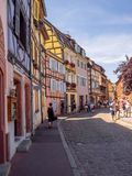 Buildings in the heart of medieval Colmar Royalty Free Stock Photo