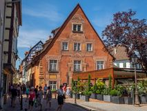Buildings in the heart of medieval Colmar Royalty Free Stock Photos