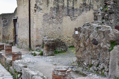 Buildings, Herculaneum Archaeological Site, Campania, Italy royalty free stock photos