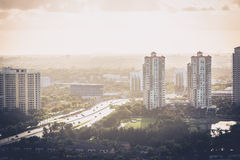 Buildings and Highway. In AVentura Florida Stock Photos