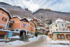 Buildings on the hill in Hallstatt, Austria Royalty Free Stock Photography